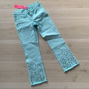 Lilly Pulitzer South Ocean crop embellished Jeans